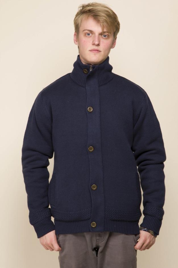 Foret cardigan strik jakke. Marineblå - Cardigans - Samsø Nature