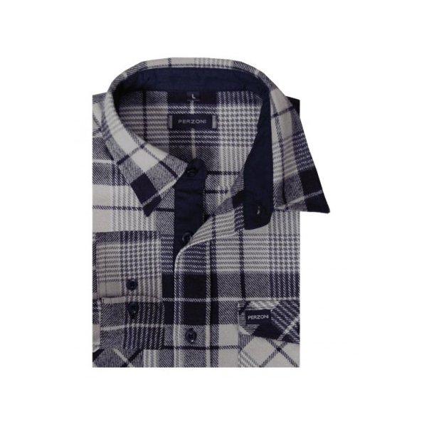 Skjorte, flannel, kraftig kvalitetTILBUD