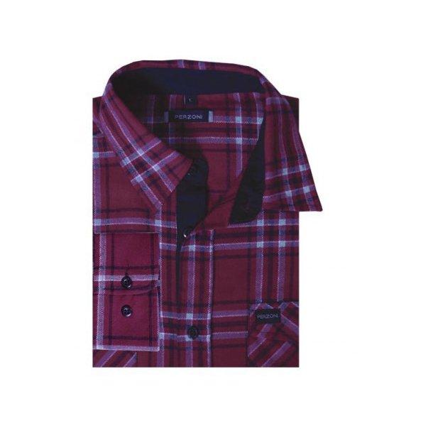 Skjorte, flannel, TILBUD
