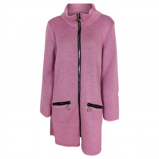 Lang frakke med uld. TILBUD