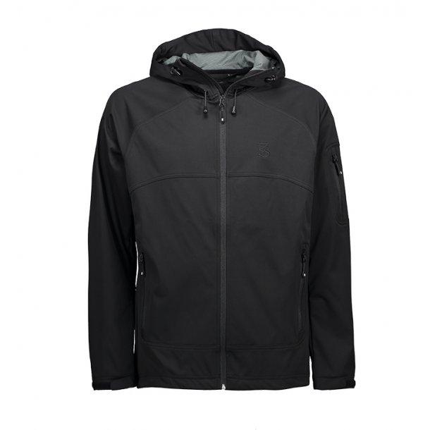 Softshell jakke  med hætte fra SEVEN SEAS, åndbar og vandtæt. TILBUD