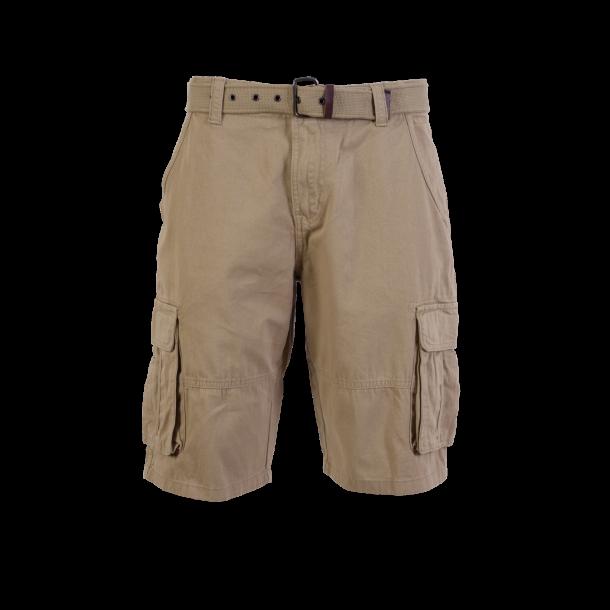 Cargo shorts m. bælte fra Kopenhaken. Bomuld. TILBUD