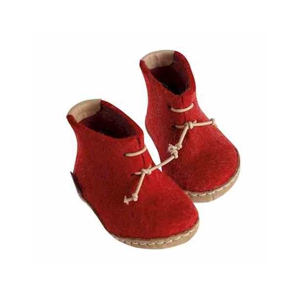 f652f16a Babystøvle i filtet uld fra Glerups. Rød. - Glerups sko - Samsø Nature
