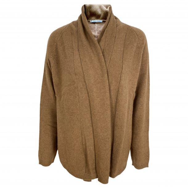 Cardigan fra MANSTED, 100% camel, TILBUD