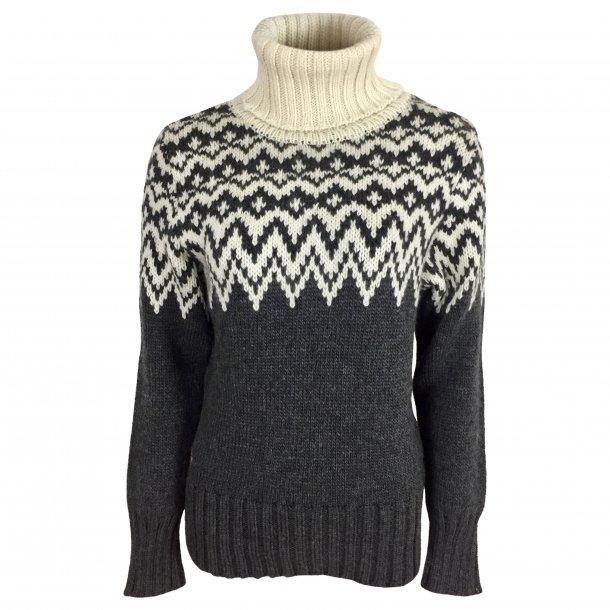Sweater m. rullekrave, 100% Merinould