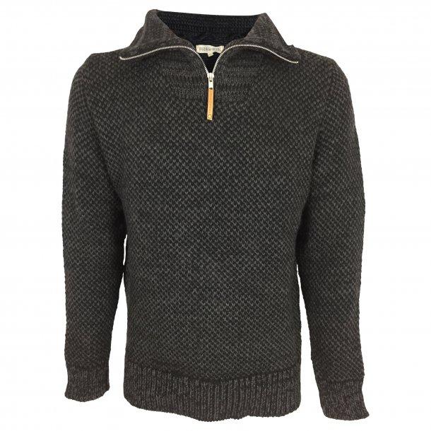 Sweater halfzip, 100% Merinould