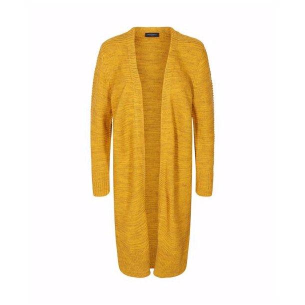 Lang strikket cardigan med uld fra Freequent