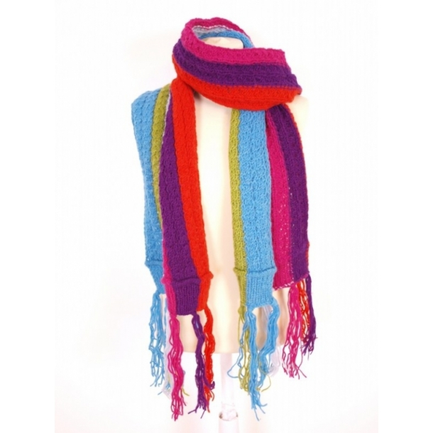 Halstørklæde, 100% uld, håndstrikket - Halstørklæder - Samsø Nature