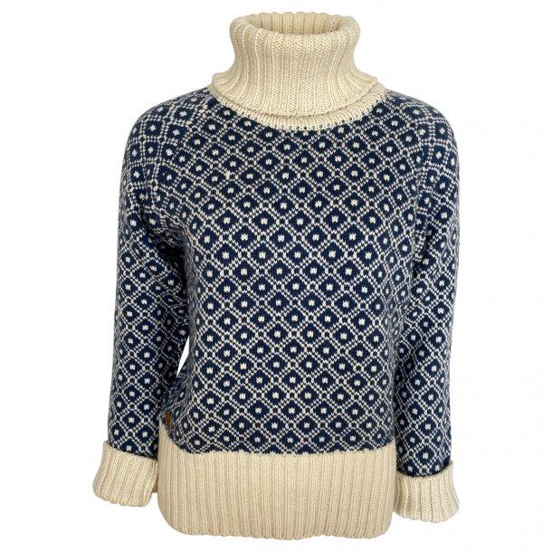 Sweater m. rullekrave, FUZA WOOL, 100% Merinould
