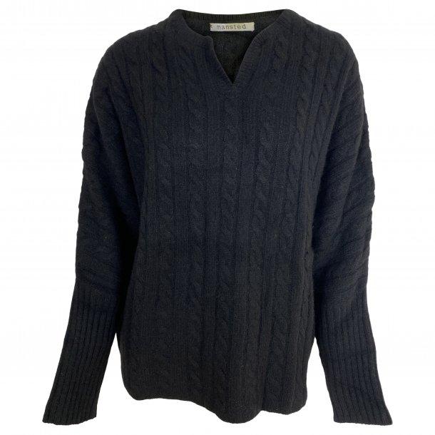 Bluse fra MANSTED, 100% Yak uld, TILBUD