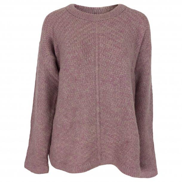 Strikket bluse med uld, TILBUD