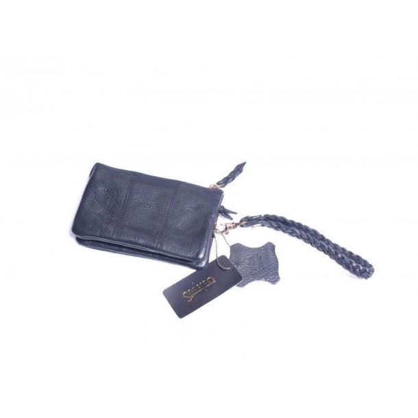 52cb431dce0 Sort læder pung / lille taske med mange praktiske rum. Læder. Octupus.  TILBUD