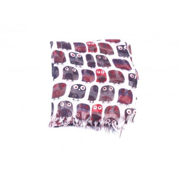4e77678eb Ugle tørklæde i flot mønster. Tilbud fra butikken på Samsø. God gaveidé.