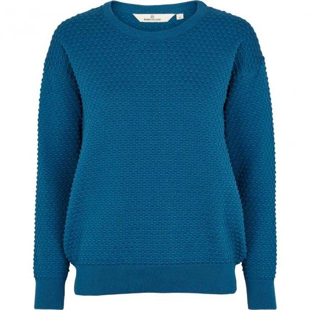 Bluse, langærmet sweater, 100% bomuld. TILBUD