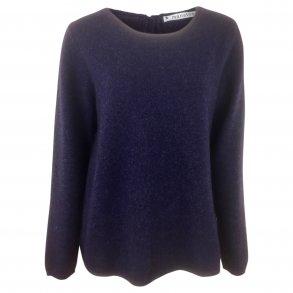 b03f83be Varm strikket jakke med lynlås og lommer. 100% uld. Koks - Bluse ...